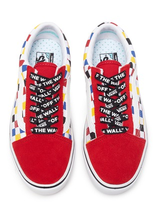 Figure View - Click To Enlarge - VANS - COMFYCUSH OLD SKOOL' Logo Lace Colourblock Check Kids Sneakers