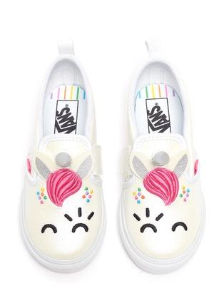 Figure View - Click To Enlarge - VANS - x FLOUR SHOP Unicorn Toddler Slip On Sneakers