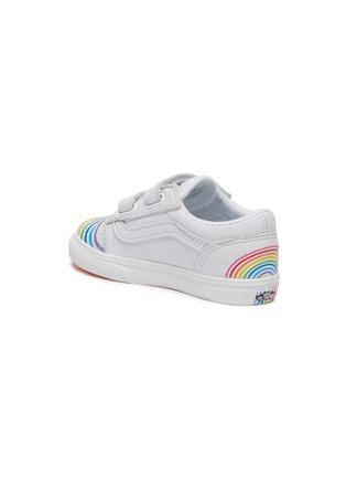 Detail View - Click To Enlarge - VANS - 'OLD SKOOL' Rainbow Motif Toddler Leather Sneakers