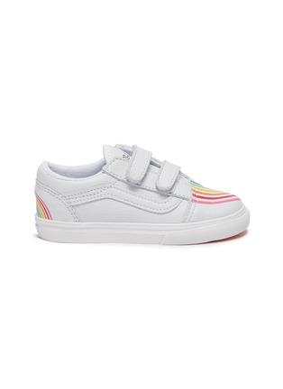 Main View - Click To Enlarge - VANS - 'OLD SKOOL' Rainbow Motif Toddler Leather Sneakers