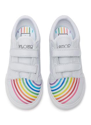 Figure View - Click To Enlarge - VANS - 'OLD SKOOL' Rainbow Motif Toddler Leather Sneakers
