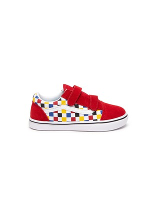 Main View - Click To Enlarge - VANS - 'COMFYCUSH OLD SKOOL' Colourblock Check Toddler Sneakers