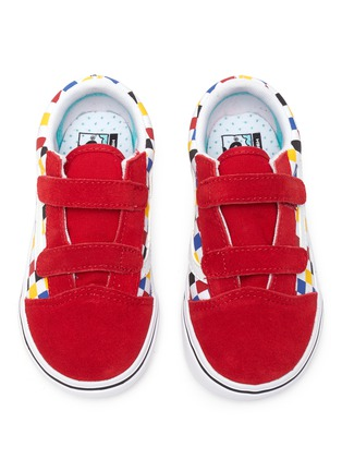 Figure View - Click To Enlarge - VANS - 'COMFYCUSH OLD SKOOL' Colourblock Check Toddler Sneakers