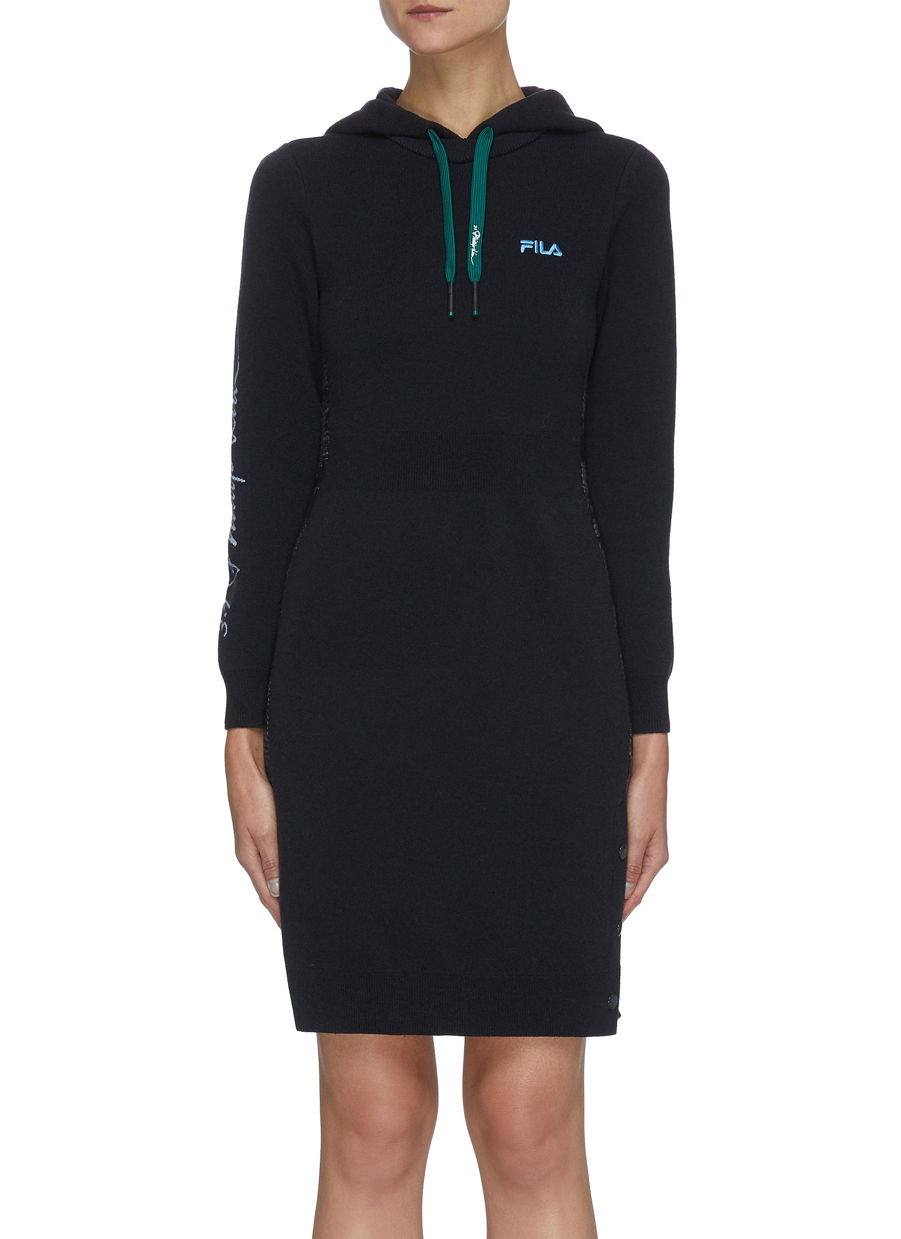 Logo Sleeve Side Trim Drawstring Hood Dress - FILA X 3.1 PHILLIP LIM - Modalova