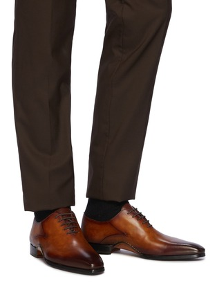 Figure View - Click To Enlarge - MAGNANNI - Opanca Wholecut' Leather Oxford Shoes
