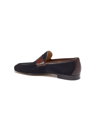 - MAGNANNI - Bi-colour suede penny loafers