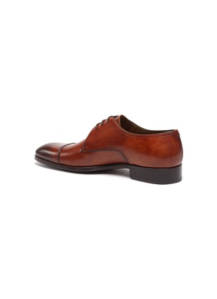 - MAGNANNI - Almond Toe Leather Derby Shoes