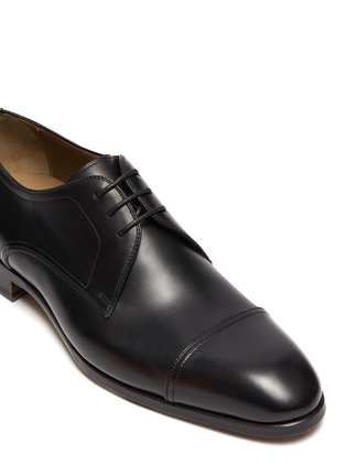 Detail View - Click To Enlarge - MAGNANNI - Almond Toe Leather Derby Shoes