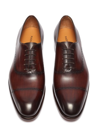 Detail View - Click To Enlarge - MAGNANNI - Perforated Detail Round Toe Leather Oxford Shoes