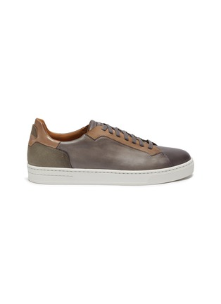 Main View - Click To Enlarge - MAGNANNI - Opanca' leather tennis sneakers