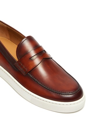 Detail View - Click To Enlarge - MAGNANNI - Opanca' rubber sole leather penny loafers