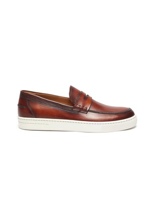 Main View - Click To Enlarge - MAGNANNI - Opanca' rubber sole leather penny loafers