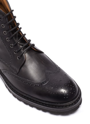 Detail View - Click To Enlarge - MAGNANNI - Tread Sole Wingtip Leather Combat Boots