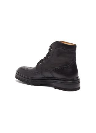 - MAGNANNI - Tread Sole Wingtip Leather Combat Boots