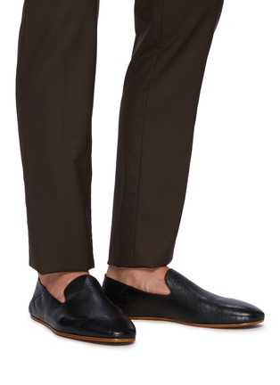 Figure View - Click To Enlarge - MAGNANNI - Stepdown' Deerskin Leather Slip-on Flats