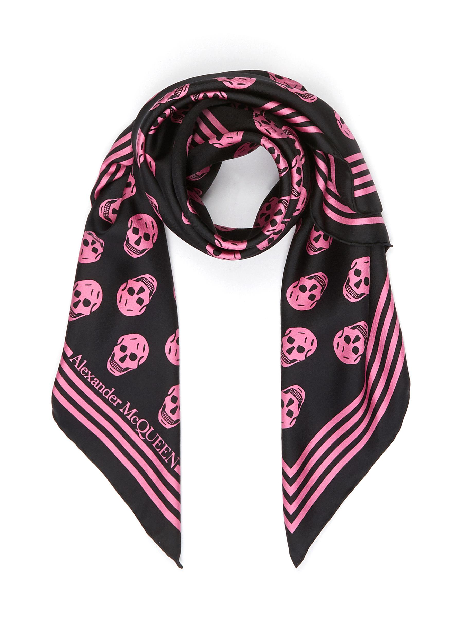 Alexander Mcqueen ALL-OVER SKULL PRINT SILK SCARF