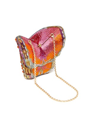 Detail View - Click To Enlarge - JUDITH LEIBER - 'Butterfly Fireclipper' Crystal Embellished Clutch