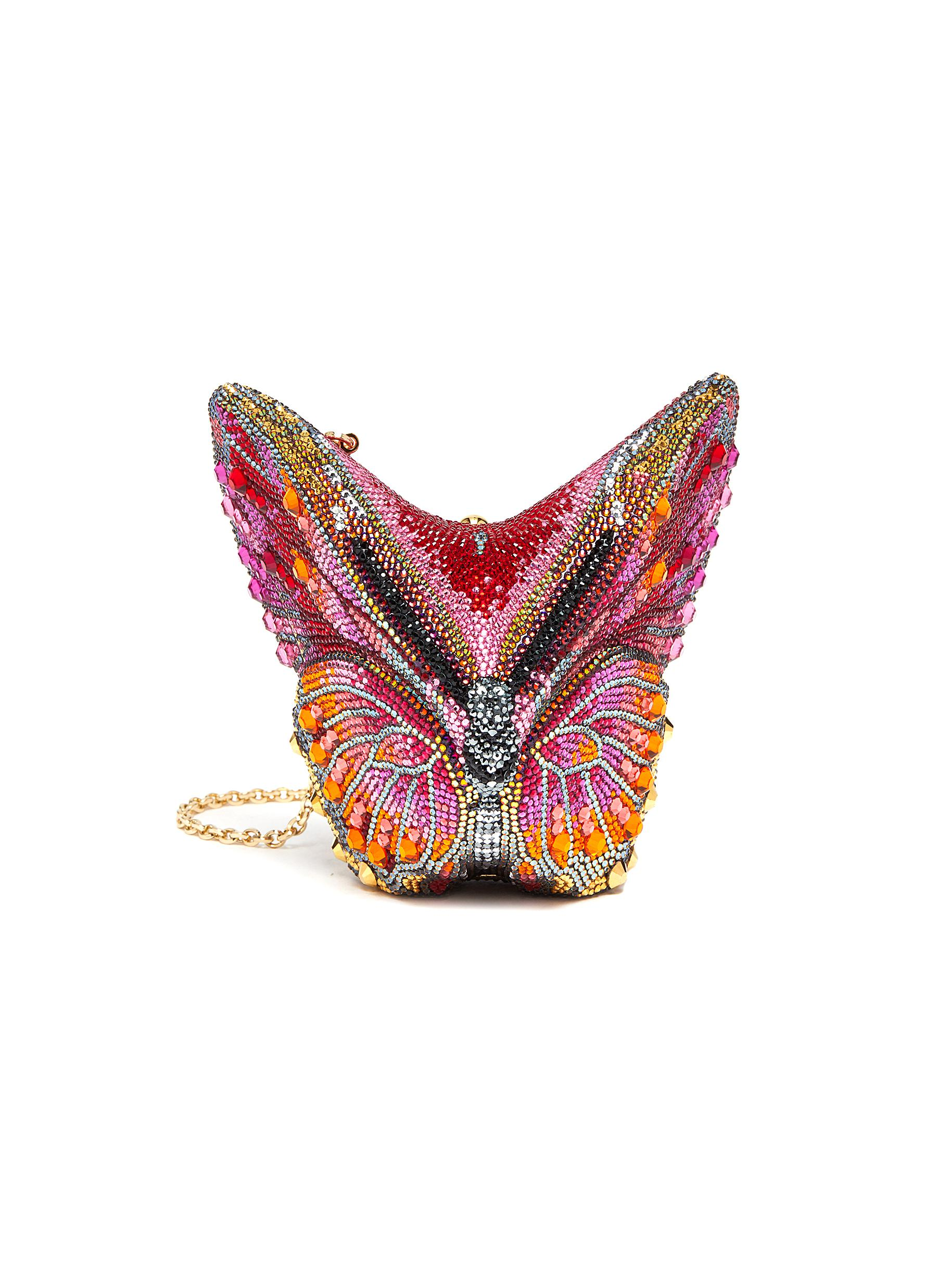 'Butterfly Fireclipper' Crystal Embellished Clutch