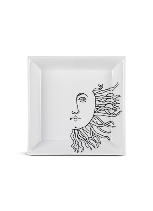Main View - Click To Enlarge - FORNASETTI - Solitario Porcelain Square Plate
