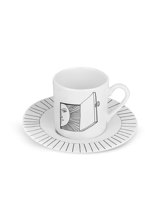 Main View - Click To Enlarge - FORNASETTI - Solitario Porcelain Coffee Cup Set