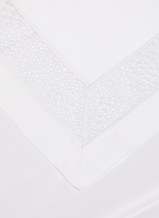 Detail View - Click To Enlarge - FRETTE - Forever Lace Queen Size Duvet Set – White