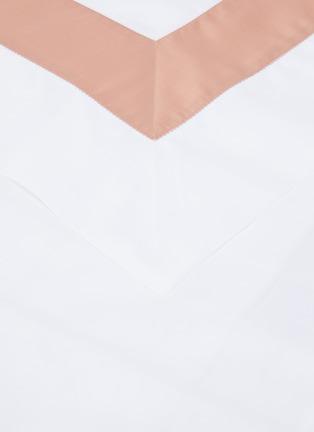 Detail View - Click To Enlarge - FRETTE - Bicolore Queen Size Duvet Set – Bianco/Peach Rose