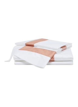 Main View - Click To Enlarge - FRETTE - Bicolore Queen Size Duvet Set – Bianco/Peach Rose