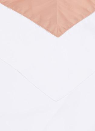 Detail View - Click To Enlarge - FRETTE - Bicolore Pillow Sham – Beige/Rose