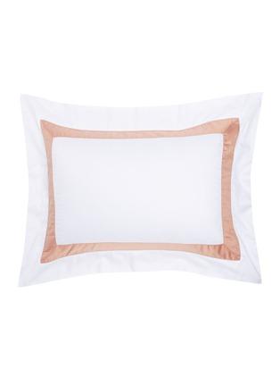 Main View - Click To Enlarge - FRETTE - Bicolore Pillow Sham – Beige/Rose