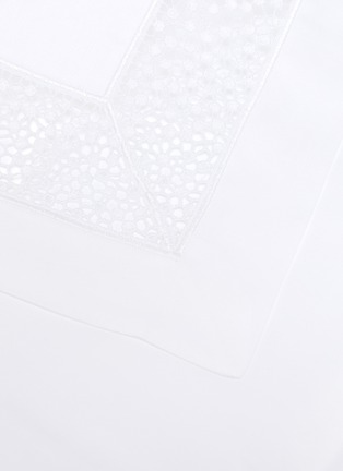 Detail View - Click To Enlarge - FRETTE - Forever Lace King Size Duvet Set – White