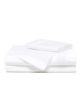 Main View - Click To Enlarge - FRETTE - Forever Lace King Size Duvet Set – White