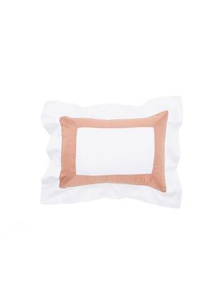 Main View - Click To Enlarge - FRETTE - Bicolore Boudoir Pillowcase – Bianco/Peach Rose