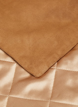 Detail View - Click To Enlarge - FRETTE - Luxury Suede Bed Runner