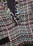 - SACAI - Tassel Fringe V-neck Tweed Top