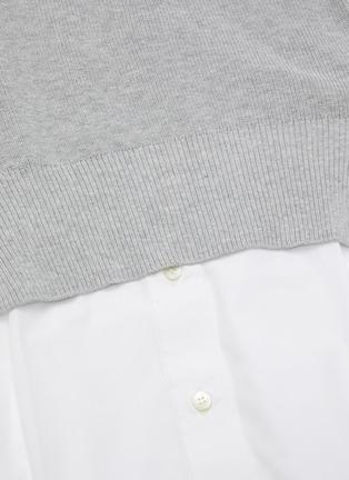 - SACAI - Cotton Cardigan Overlay Pleated Shirt Dress