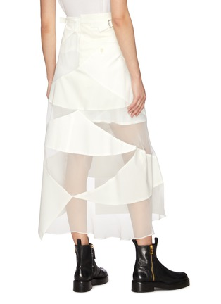 Back View - Click To Enlarge - SACAI - Solid mix asymmetric skirt