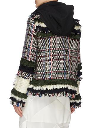 Back View - Click To Enlarge - SACAI - Frayed tweed jacket