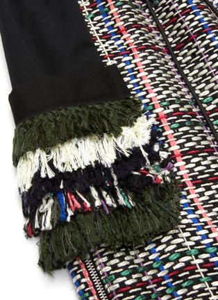 - SACAI - Tassel Fringe Accent Drawstring Waist Tweed Skirt