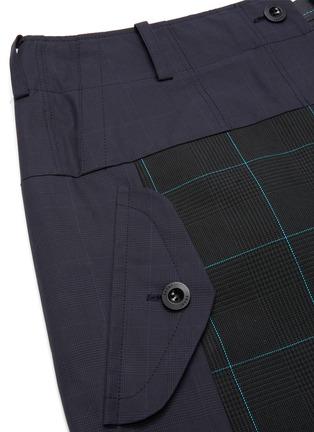 - SACAI - Deconstructed Contrast Panel Glen Check Midi Skirt