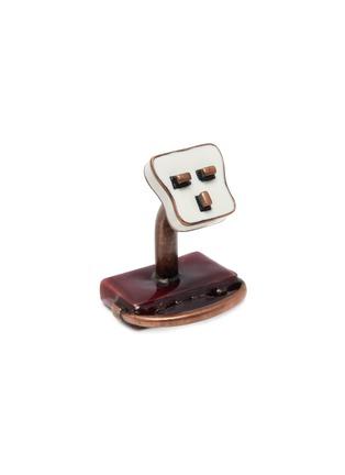 Detail View - Click To Enlarge - BABETTE WASSERMAN - Retro radio and plug cufflinks
