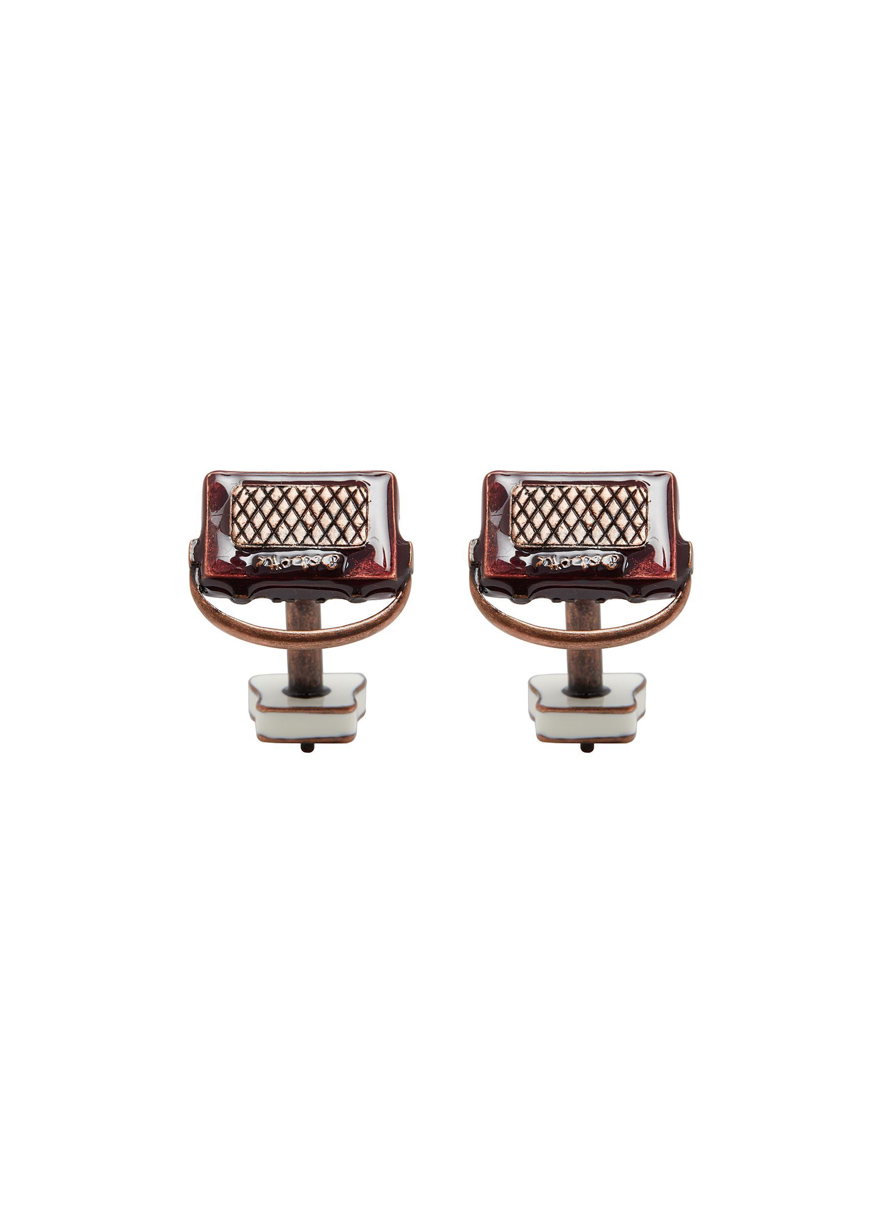 Retro radio and plug cufflinks