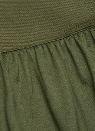 - THEORY - Elastic Waist Wide Leg Silk Blend Pants