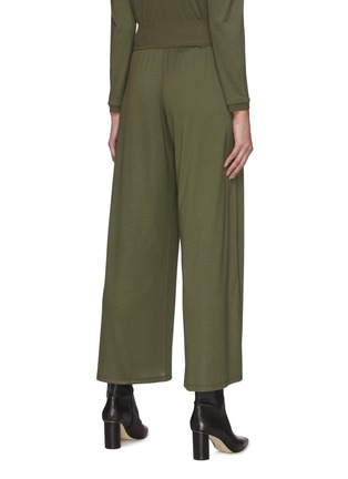 Back View - Click To Enlarge - THEORY - Elastic Waist Wide Leg Silk Blend Pants