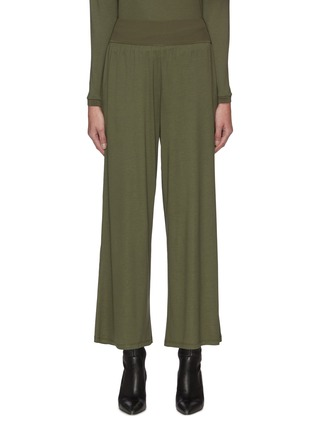 Main View - Click To Enlarge - THEORY - Elastic Waist Wide Leg Silk Blend Pants