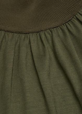 - THEORY - Mock Neck Gather Collar Silk Blend Top