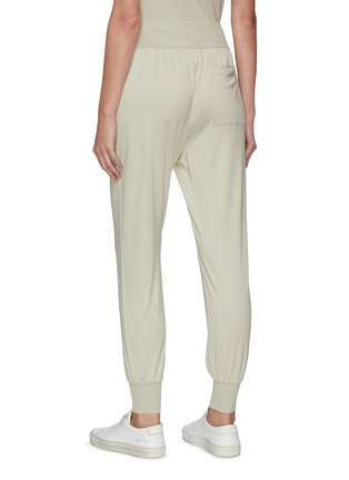 Back View - Click To Enlarge - THEORY - Elastic Waist Cuff Leg Silk Blend Jogger Pants