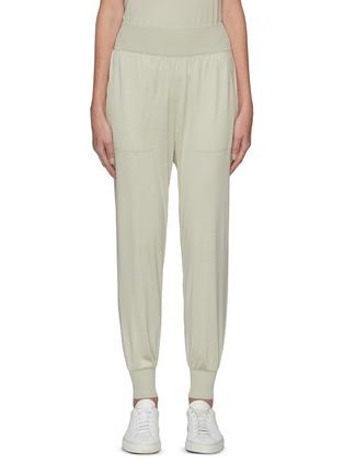 Main View - Click To Enlarge - THEORY - Elastic Waist Cuff Leg Silk Blend Jogger Pants