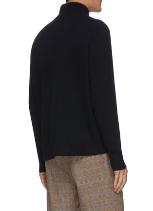 Back View - Click To Enlarge - ACNE STUDIOS - Face Patch Turtleneck Wool Sweater