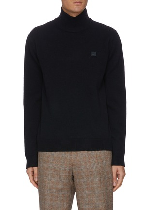 Main View - Click To Enlarge - ACNE STUDIOS - Face Patch Turtleneck Wool Sweater