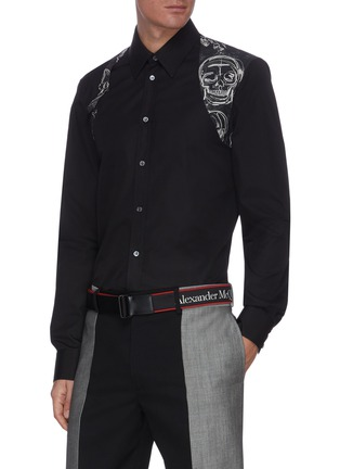 Figure View - Click To Enlarge - ALEXANDER MCQUEEN - Selvedge' Logo Embroidered Nastro Belt